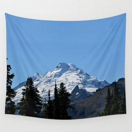 Snow Cap on the Mountain Wall Tapestry