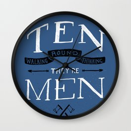 Youths as Youth as Ten Walking Round Thinking They're Men  Wall Clock