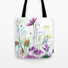 Camomile & Dianthus Tote Bag