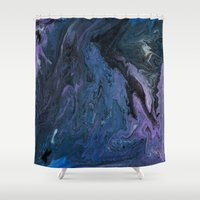 celestial Shower Curtains featuring Celestial by BevyArt
