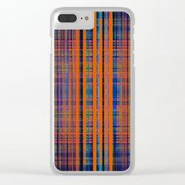 Orange grunge stripes pattern Clear iPhone Case