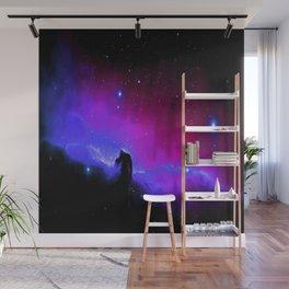 nEbulA : Horsehead Nebula Fuchsia Purple Blue Wall Mural