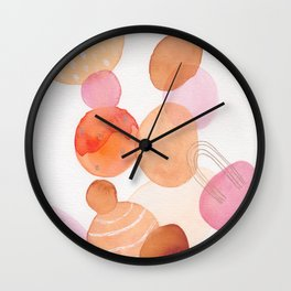 modern abstract shapes 002  Wall Clock