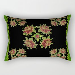 green field Rectangular Pillow