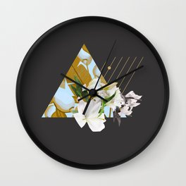 Tropical Flowers & Geometry Wall Clock