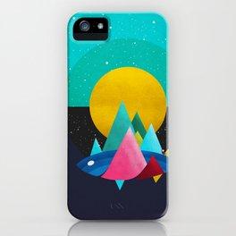 047 Owly travelling through vast cosmic sea iPhone Case