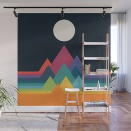 Whimsical Mountains Wall Mural