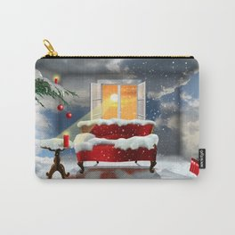 The desire for a white Christmas Carry-All Pouch