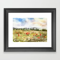 Poppies at the Lake Balaton Framed Art Print