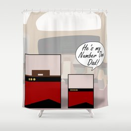 """""""Number One Dad"""" Minimalist Star Trek TNG The Next Generation Picard startrek Fathers Day Father's  Shower Curtain"""
