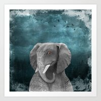 Elephantom Art Print
