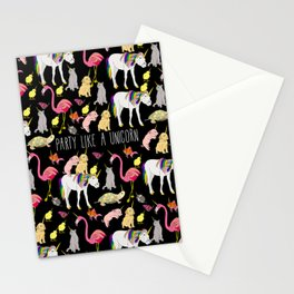 Funny Unicorn Party Stationery Cards