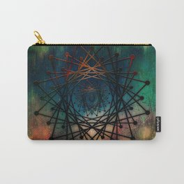 Planet Pixel Geometric Earth's Core Carry-All Pouch