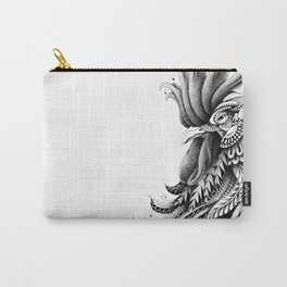 Ornately Decorated Rooster Carry-All Pouch