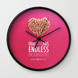 Our Love Has Endless Pastabilities Wall Clock