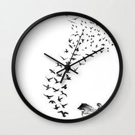 Sheba the Bird Worrier Wall Clock