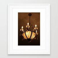 chandelier Framed Art Prints featuring Chandelier by ArtByRobin