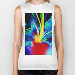 Colourful Lily Abstract Biker Tank