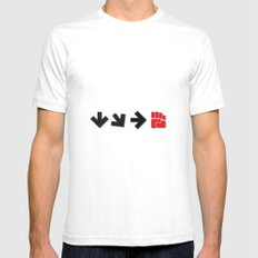 Energy Blast SMALL White Mens Fitted Tee