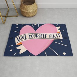 Love Yourself First, Happy Valentine's Day 2 Rug