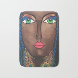 Beautiful Black Woman Bath Mat