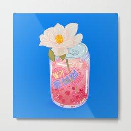 Strawberry Bubblegum Metal Print