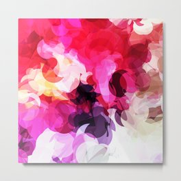 Bright Happy Color Abstract Metal Print
