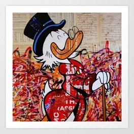 Dagobert for President (make Duckburg great again) Art Print