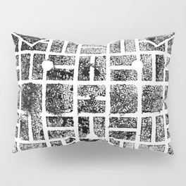 1954 Manhole Cover Ink Print From Beijing Pillow Sham