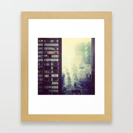 Streetview and Triangles Framed Art Print