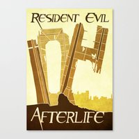 resident evil Canvas Prints featuring Resident Evil Afterlife by JackEmmett