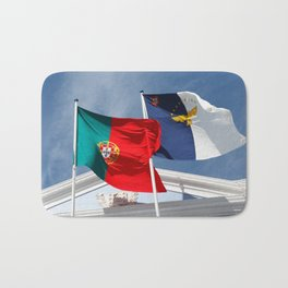 Portugal and Azores flags Bath Mat