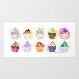 Cupcake Clique Art Print