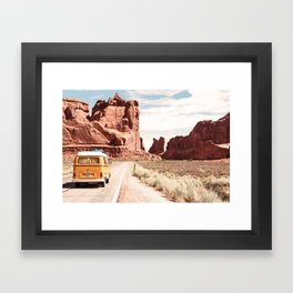 Desert Road Trip Framed Art Print