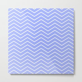 Fat Thin Chevrons Dove BLUE Metal Print