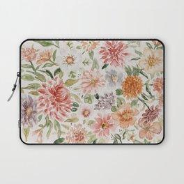 Loose Pastel Dahlia Watercolor Bouquet Laptop Sleeve