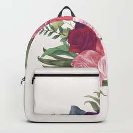 Pink Flowers Painting Backpack