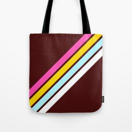 80's Style Retro Stripes Tote Bag