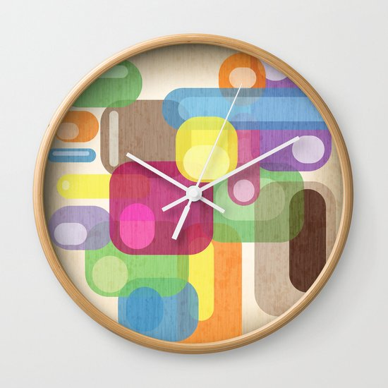 Retro Make'a Me Smile.  Wall Clock