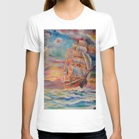 ship T-shirts featuring Ship by Kali Koltz