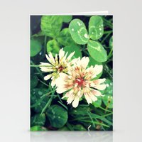 clover Stationery Cards featuring Clover by Amber Dawn Hilton