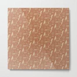 Electric Oasis Adobe Clay Metal Print