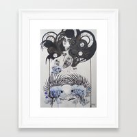 goth Framed Art Prints featuring Goth spirit  by Aggelikh Xiarxh