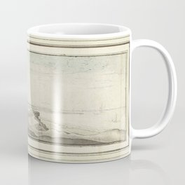 Wenceslaus Hollar - Gezicht van Muiderberg op Weesp, Muiden en Amsterdam Coffee Mug