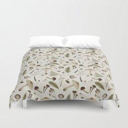 Mushroom pattern 1 white Duvet Cover