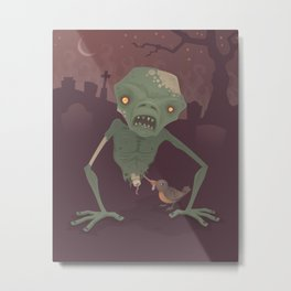 Sickly Zombie Metal Print