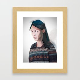 Indian boy Framed Art Print