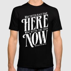 Here, Now!  Black Mens Fitted Tee X-LARGE