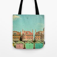cassia beck Tote Bags featuring Promenade by Cassia Beck