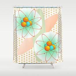 Mid-Century Modern Art Atomic 1.0 Shower Curtain